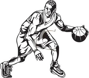 Mens Basketball Clipart.