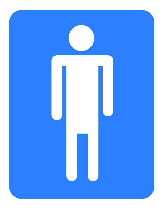 Free Clipart: Men bathroom..
