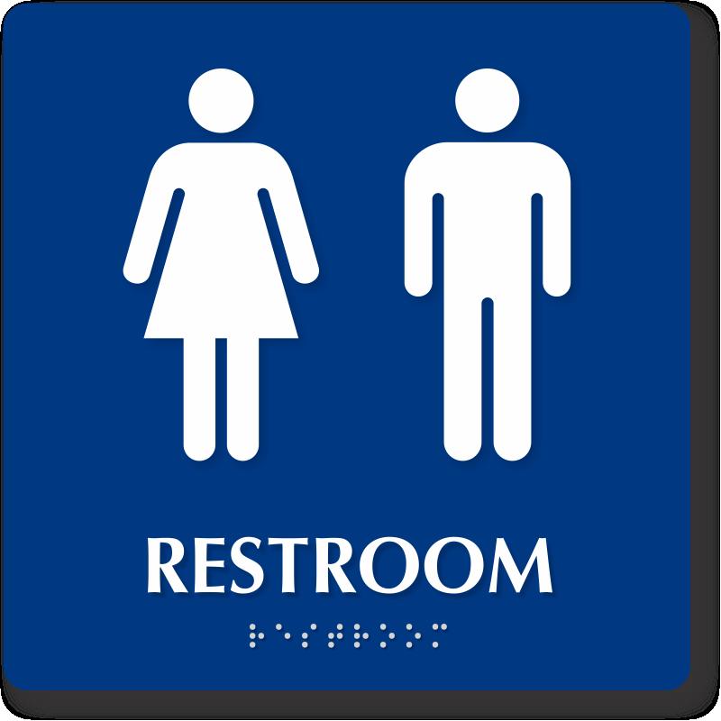 Bathroom Signs Clipart.