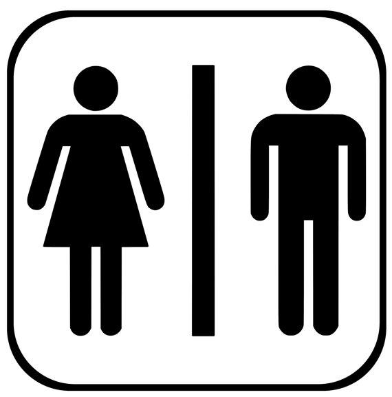 Men Women Restroom Decal, Bathroom Sign, Restroom Sign.