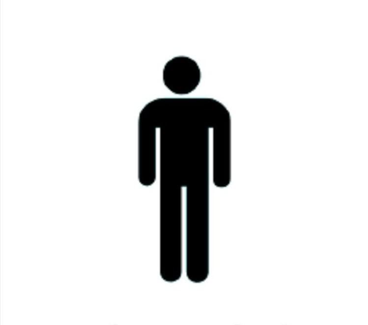 Mens Bathroom Symbol.