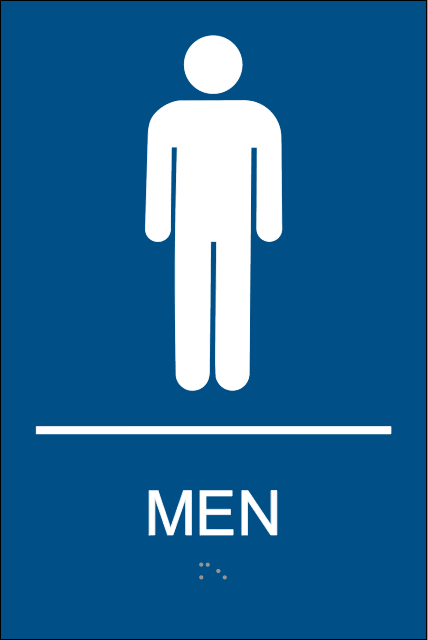 Mens Restroom Signs with Braille, Mens Bathroom Signs.
