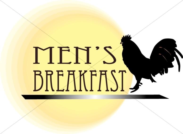 Mens Breakfast Clipart.