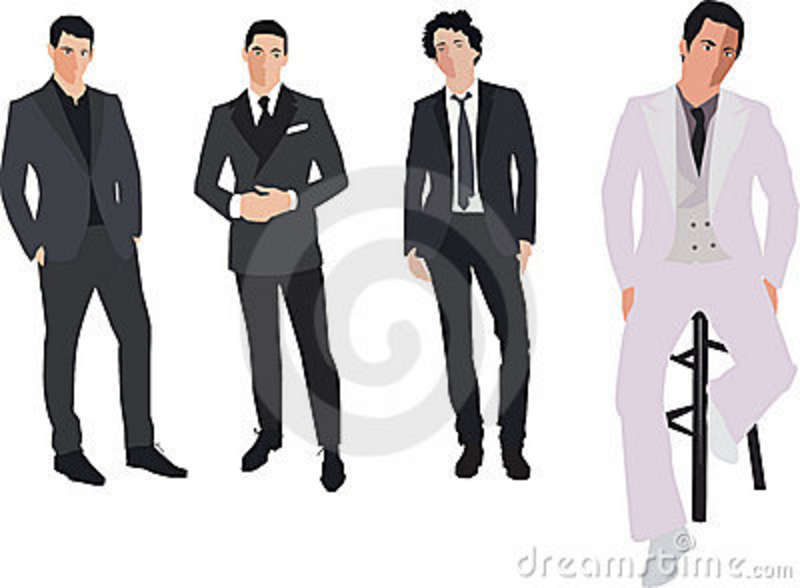 Fashion men clipart.