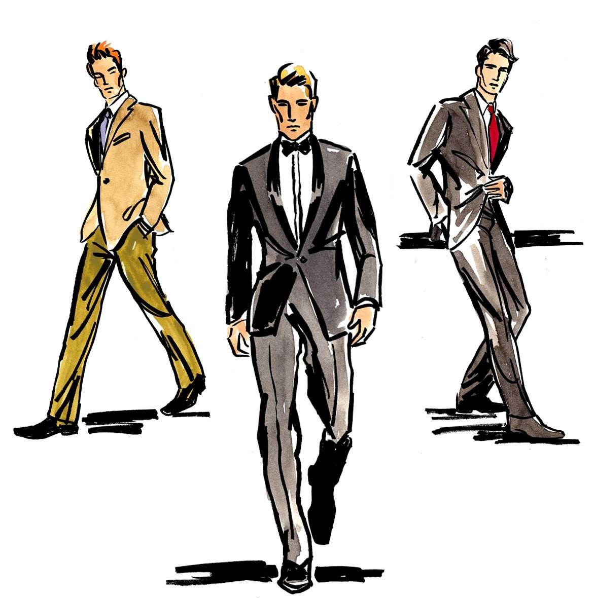 Mens clothing clipart.