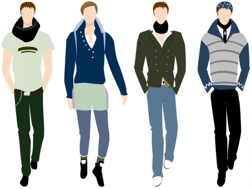 Mens Fashion Clipart.
