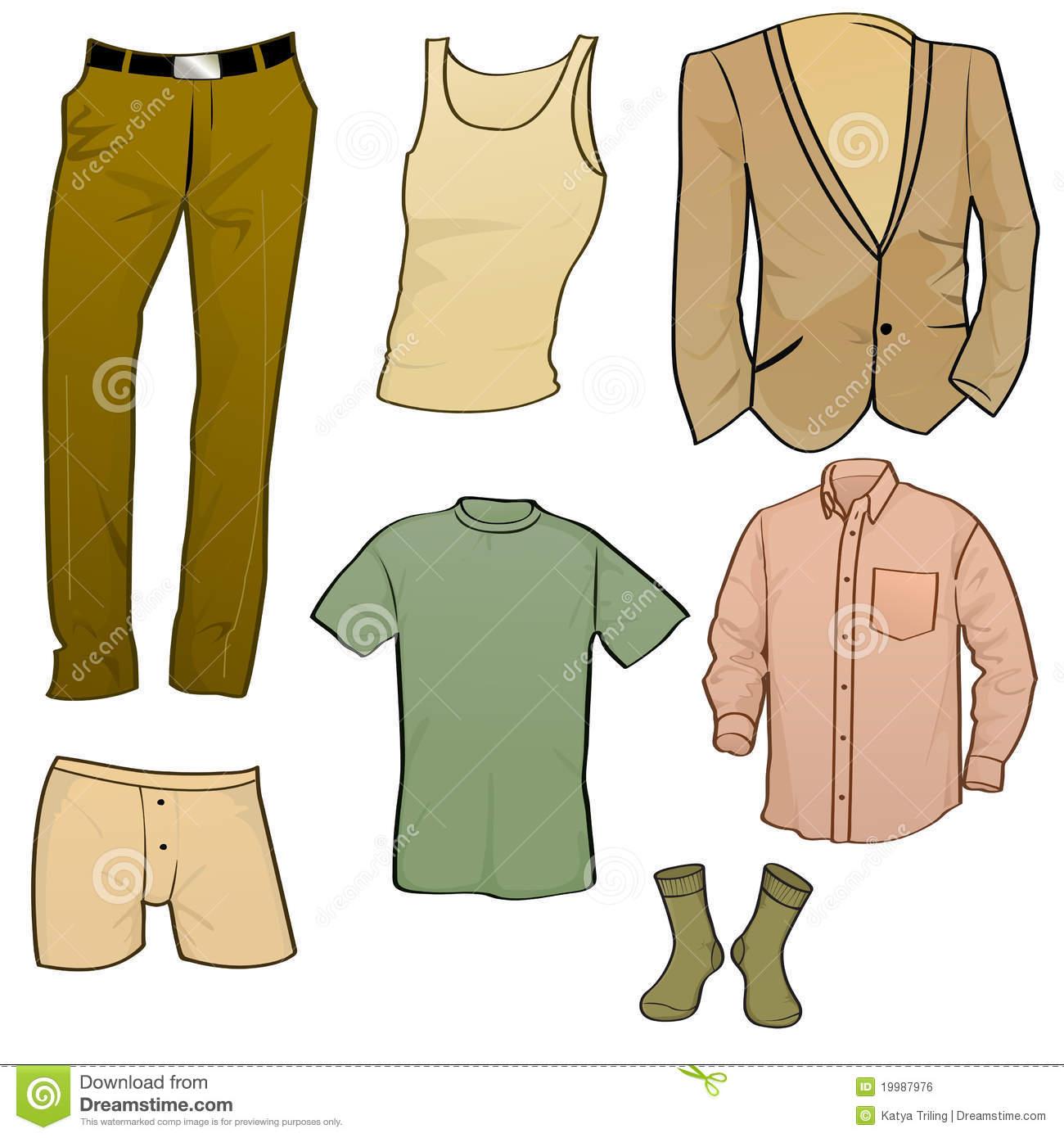 Best Mens Clothing Illustrations, Royalty.