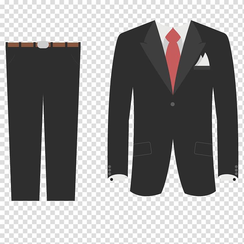 Tuxedo Suit Wedding dress, Men in black suits transparent.
