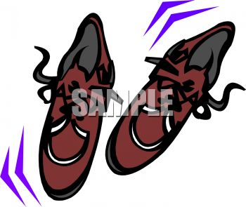 White dress shoes clipart