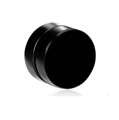 Fida Arts 8 MM Black Round Barbell Magnetic (Non Piercing) Stud Earring for  Men.