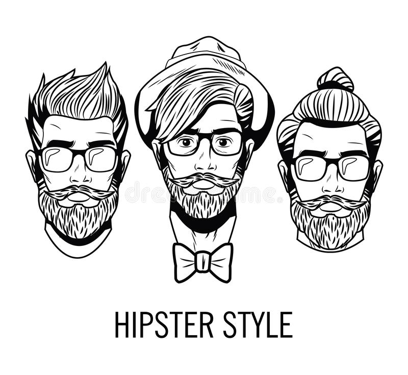 Mens Faces Stock Illustrations.