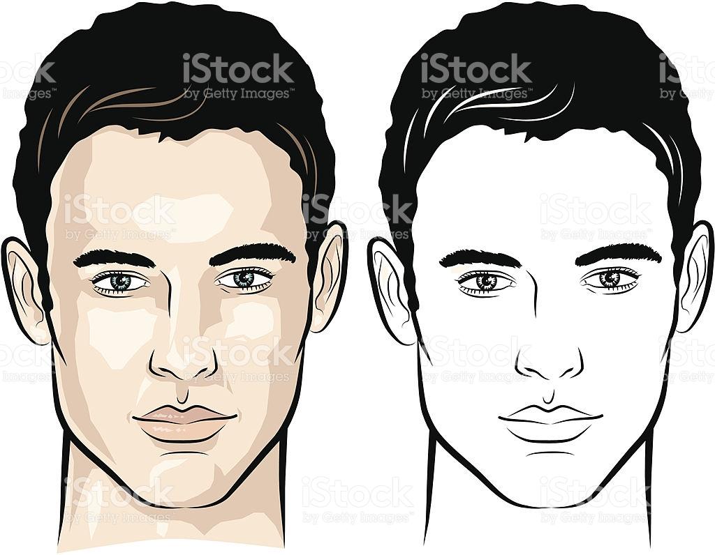 Man Face Vector at GetDrawings.com.