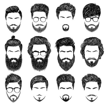 33,730 Men Hair Style Stock Vector Illustration And Royalty.