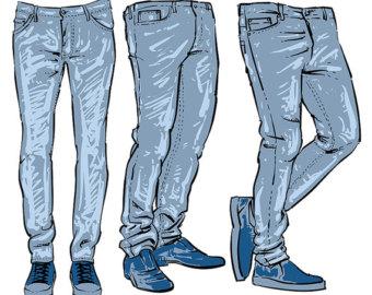 Mens Jeans Clipart.