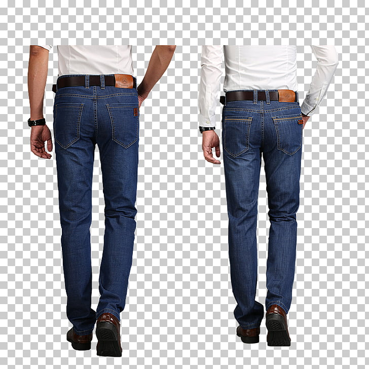 Jeans Shoe Denim Leather, Men\'s jeans on the back PNG.