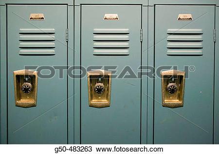 Stock Photo of Men's Locker Room g50.