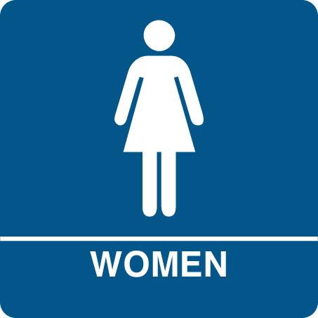 Ladies room sign clipart.