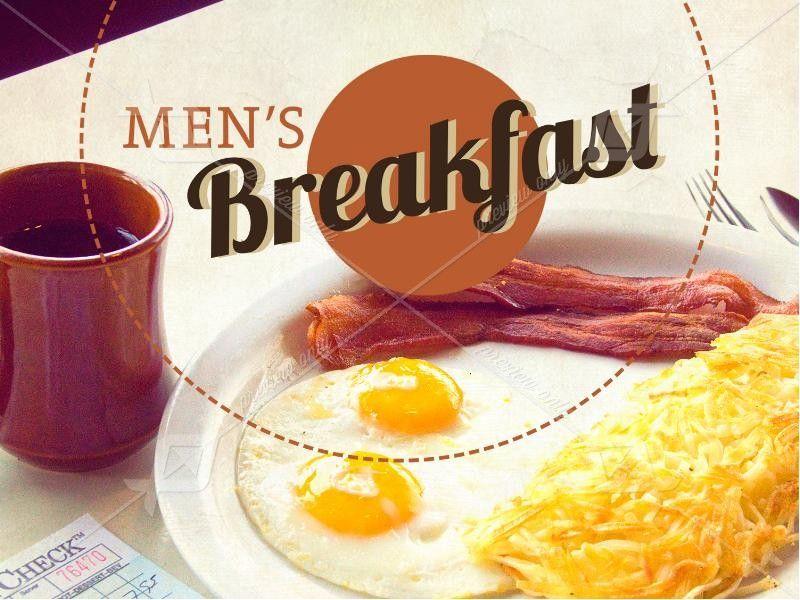 Men\'s Breakfast PowerPoint Template.