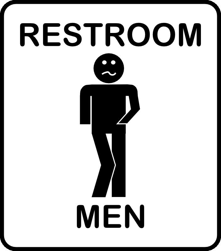 Mens Bathroom Sign.