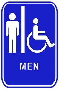Mens restroom clipart.