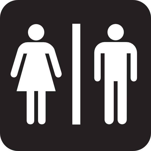 Ladies room sign clipart.