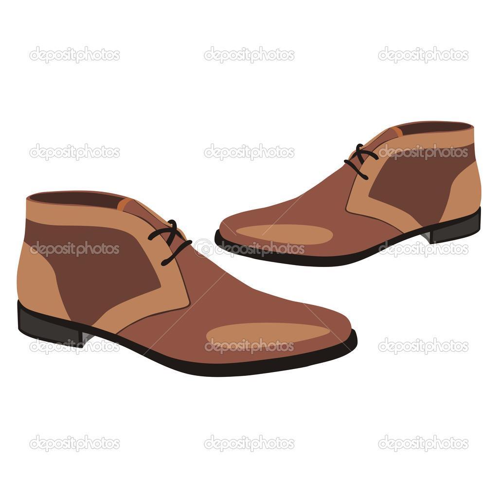 Free Men Shoes Clipart Image.