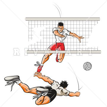 Pin by Rivalart.com on Volleyball Clip Art.