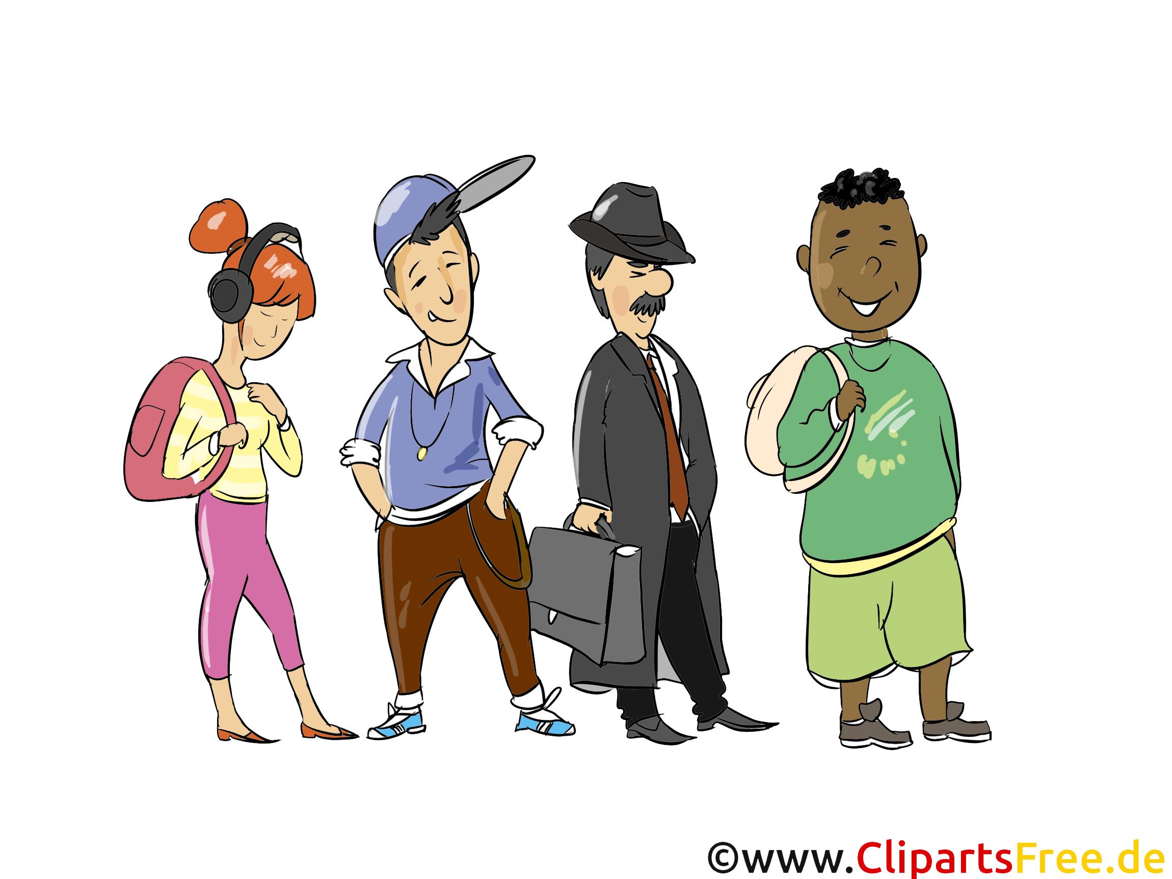 Menschen Bilder, Cliparts, Cartoons, Grafiken, Illustrationen.