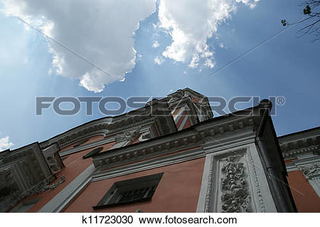 Stock Photography of Menshikov Tower, the Church of Archangel.