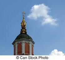 Stock Photo of Menshikov Tower, the Church of Archangel Gabriel.