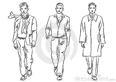 Menswear Stock Illustrations.