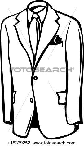 Clipart of Menswear u18339252.