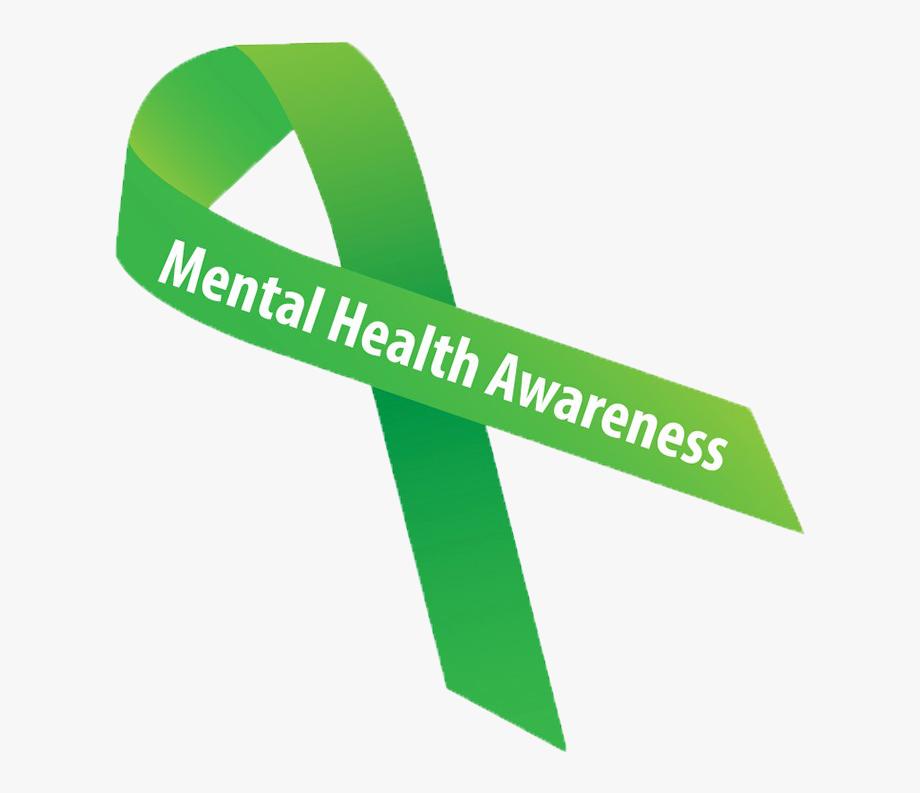 Mental Health Clipart Green Awareness Ribbon.
