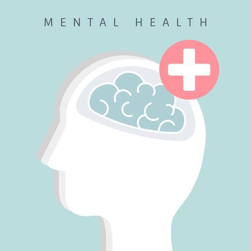 Mental health awareness icon vector.
