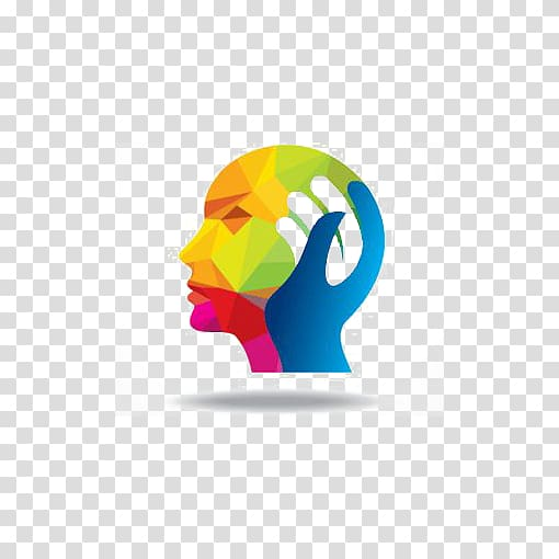 Green and blue human head , Mental health Psychologist.