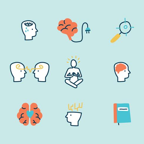 Doodled Mental Health Icons.