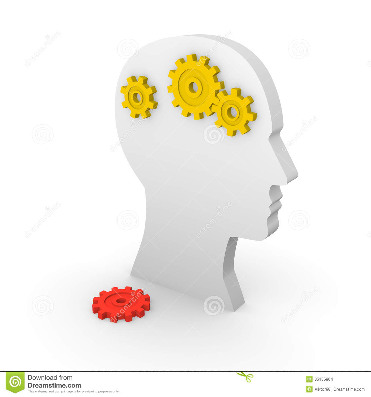 Concept Of Mental Illness Stock Images.