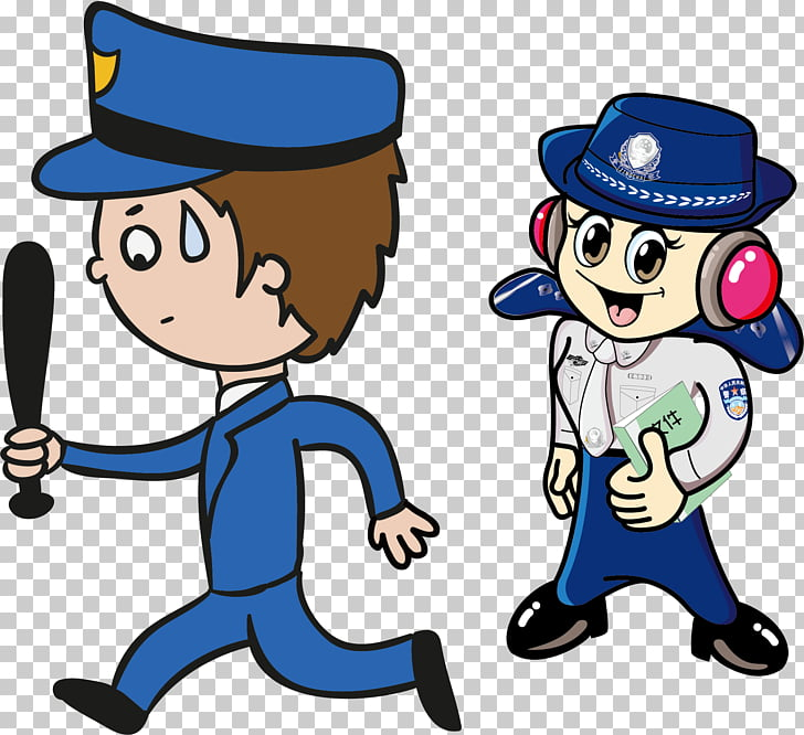 Police officer Cartoon Designer, Network alarm to mention.