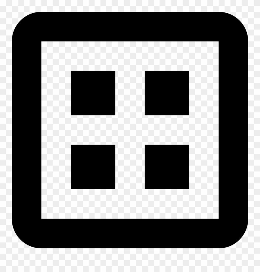 Clipart Transparent Button Svg Square.