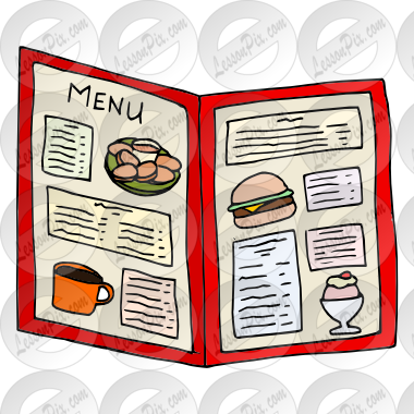Menu clipart clipground for Artistic cuisine menu