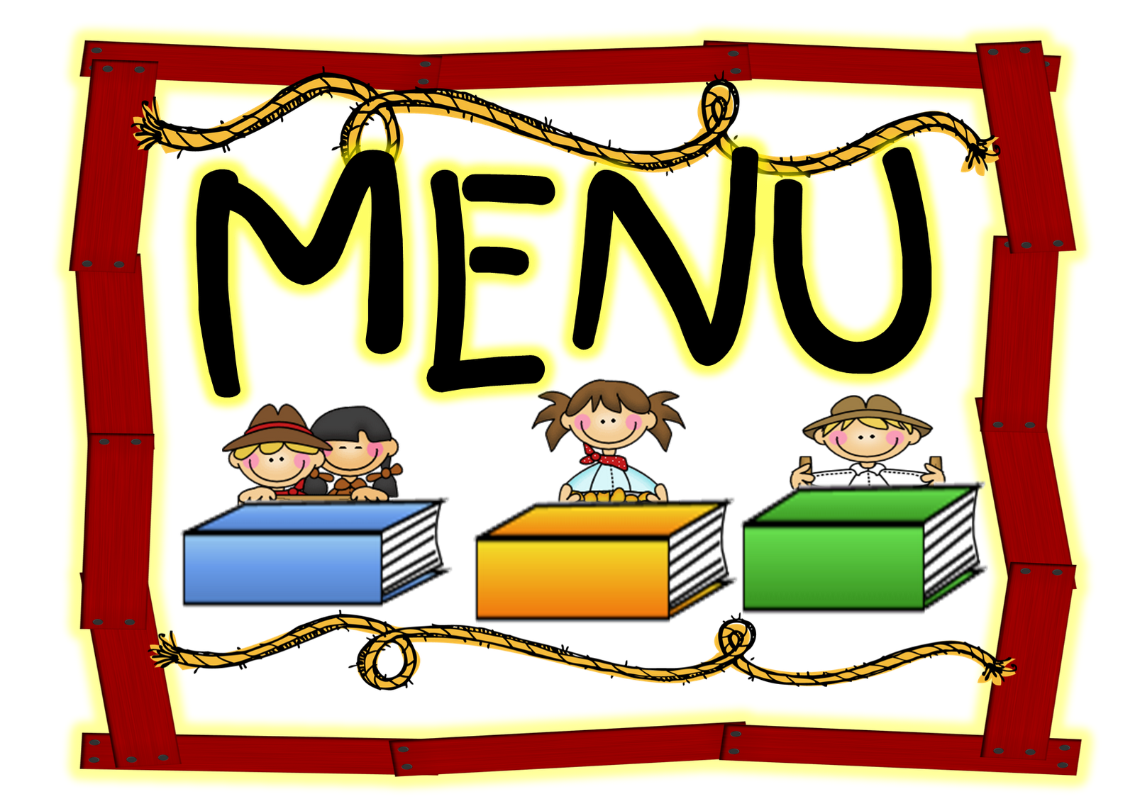 School Lunch Menu Clipart.