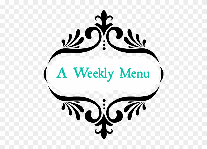 Week's Menu Clipart (#2472742).
