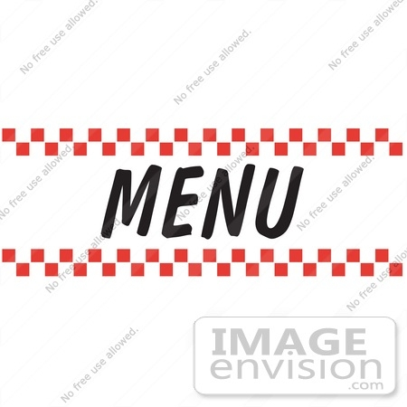 Red Menu Clipart regarding Menu Sign Clip Art.