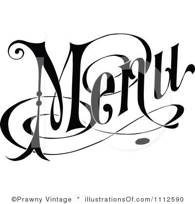 Menu Sign Clip Art.