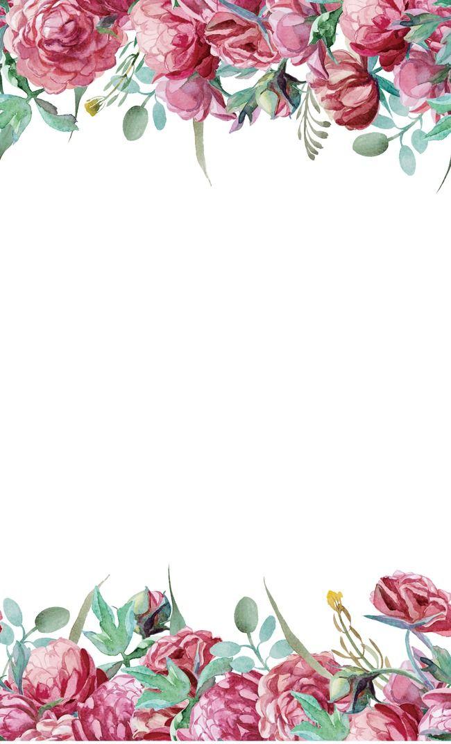 Texture Painted Flowers, Watercolor Flower, Simple.