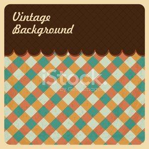 Vintage Background Texture Top Menu Clipart Image.