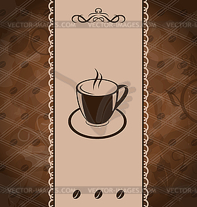 Vintage background for coffee menu, coffee bean texture.