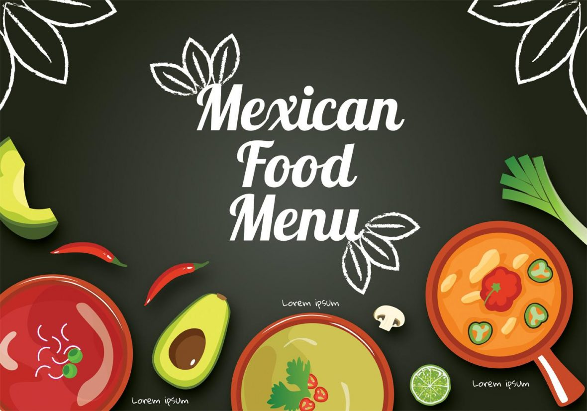 Free Mexican Food Menu Vector Template.
