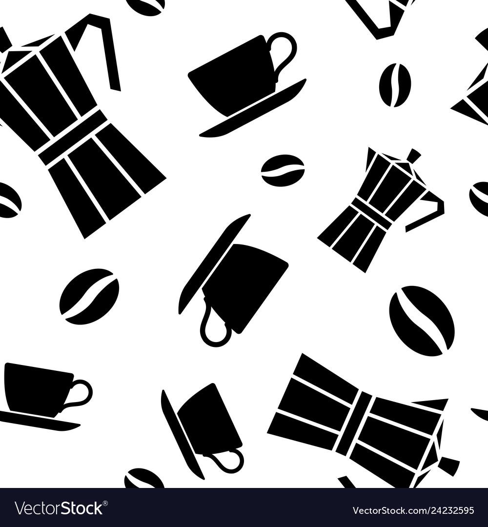 Seamless pattern coffee.
