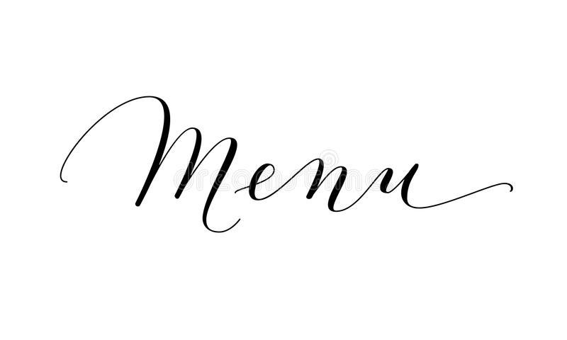 Menu Word Stock Illustrations.